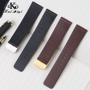 Leather strap Soft and comfortable Men's and women's retro watch chain smart accessories 15 16 18 20 22mm General dimensions
