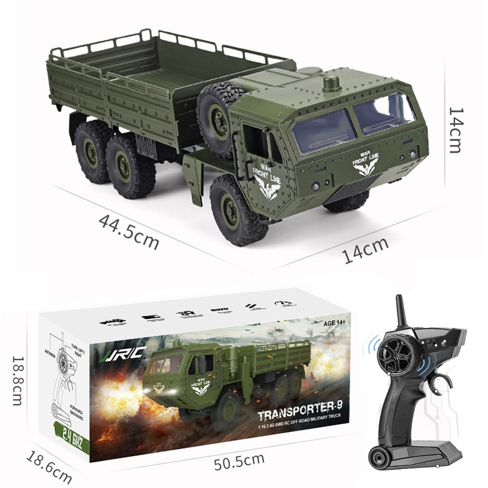 JJRC Q75 RC Truck Car Remote Control Truck 1/16 6Wd 2.4G RC Military Trucks Army Toys Electric Vehicles Toys VS Fayee FY004A enlarge