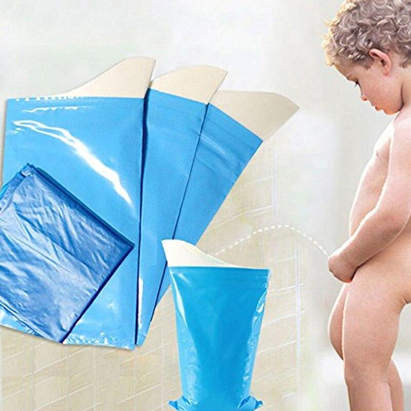 4 unids/set al aire libre de emergencia bolsas de plástico de orinar estilo Simple Mini coche bolsa de orina de bebé/mujeres/hombres de viaje Universal urinarios Kit