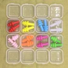 2 пары в коробке удобные затычки ушные для плавания профессиональные силиконовые ушные затычки для плавания Мягкие силиконовые затычки для...