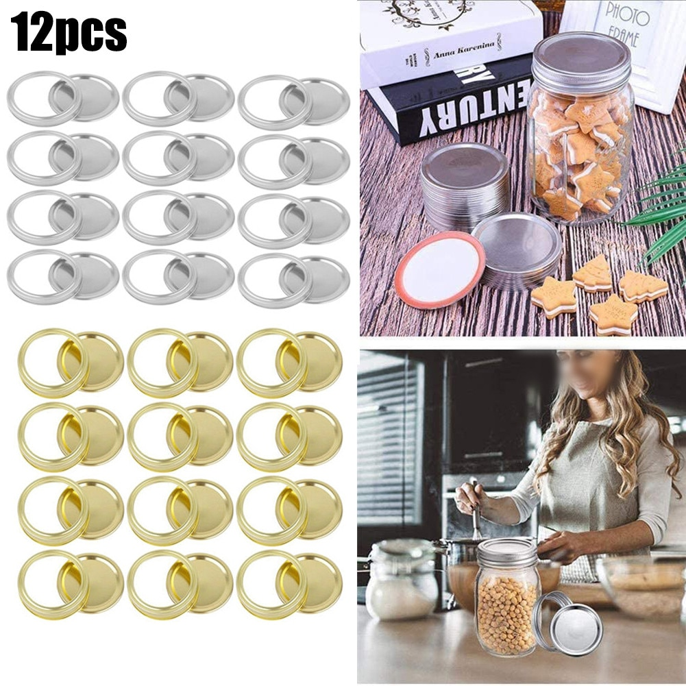 87/70mm Canning Lids Stainless Steel Canning Lids And Band Mouth/Wide For Lids Jar Regular Mouth Masons Jar Lid And Band les bratt fish canning handbook