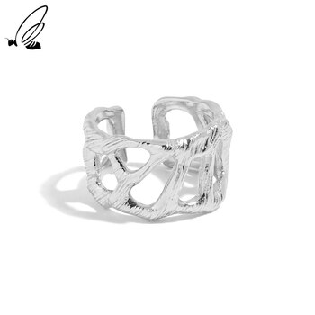 S'STEEL Sterling Silver 925 Minimalism Design Of Hollowed Out Resizable Ring For Women's Luxury Wedding 2021 Trend Fine Jewelry