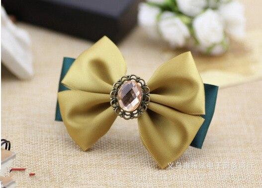 Women's classic bow hairpin hairpin headdress duckbill clip hair ring spring clip ribbon rhinestone pearl handmade