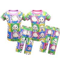 cocomelon kids pajamas boys girls sleepwear baby topspants 2pcs summer children pyjamas pijamas cartoon nightwear clothing 2021