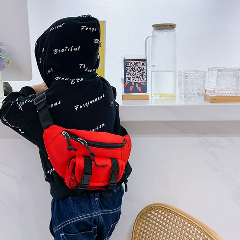 Child Waist Bag Boy Chest pack Trend Belt Bags High Capacity Kidney Funny Bags Girl Banana Bags Teens Crossbody Pack Fanny pack