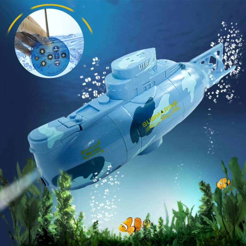 Radio RC Submarine 6 Function Electric Mini Remote Control Speed Boat Explosion Military Battle Kid