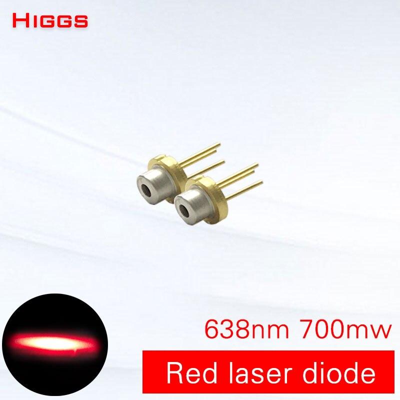 Alta calidad 638nm 700mw gran potencia luz roja diodo láser Semiconductor módulo láser fotoeléctrico accesorios fuente de luz láser