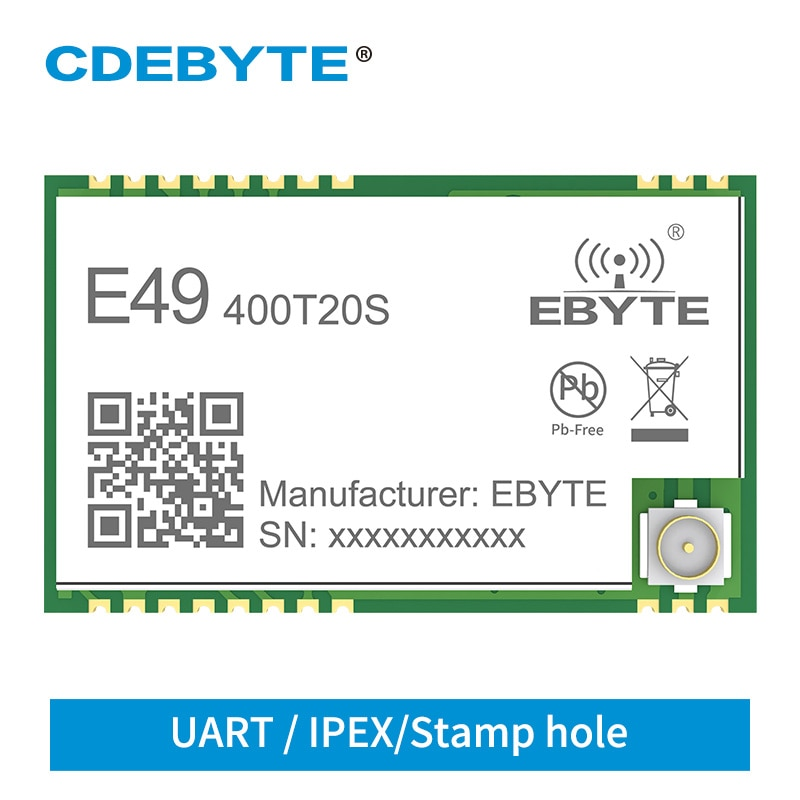 e49 400m20s 433mhz 20dbm cmt2300a chip wireless modules cost effective wireless data transmission spi module long range ebyte 433MHz rf module CDEBYTE E49-400T20S 20dBm 100mW UART SMD Cost effective Wireless data transmission module 1.0km GFSK