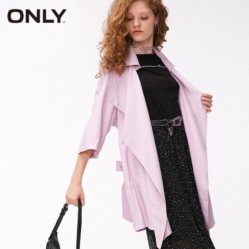 فقط المرأة الربيع الدانتيل يصل التلبيب 3 / 4 كم متوسطة طول خندق معطف | 118336535