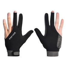 Sıcak satış 1 adet erkek kadın silikon kaymaz 3 parmak gösterisi eldiven bilardo Snooker Cue spor