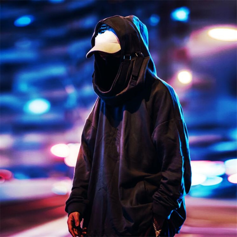 Nagri gola alta boca de peixe pulôver camisolas japonesas homem/mulher hoodies oversize streetwear hip hop harajuku masculino topos