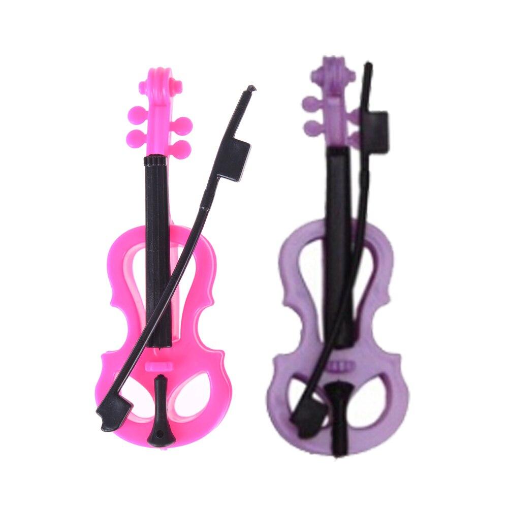 2 uds violín plástico niños Casa de juguete para muñeca Barbie Dreamhouse...