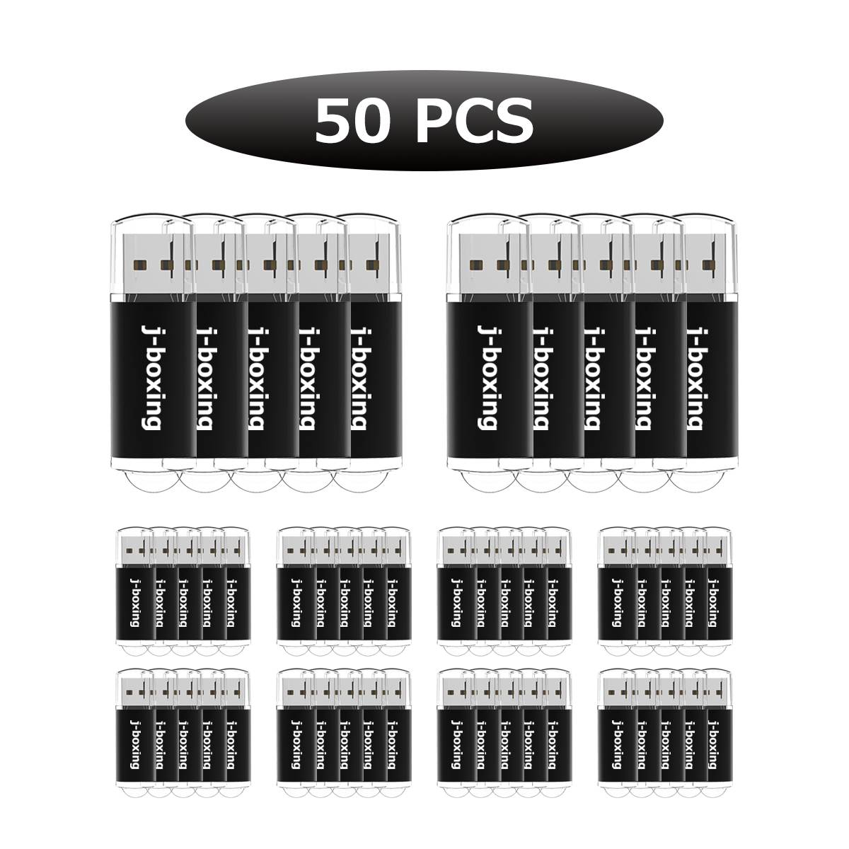 J-boxing 50PCS 4GB USB Flash Rectangle Memory Stick Pen Drive for Computer Laptop Tablet Mac Thumb Flash Drive Storage 8 Colours enlarge