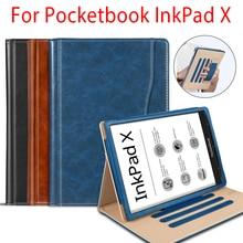 """Luksusowe etui na Pocketbook InkPad X 2020 etui na e-czytnik z uchwyt na rękę do Pocketbook InkPad X10.3 """"Magnetic funda capa"""