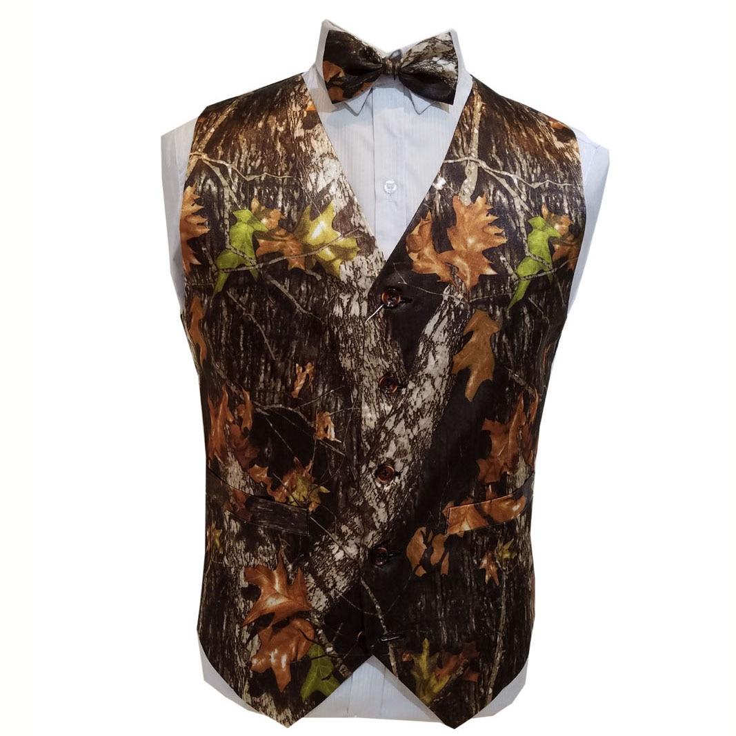 Novio usar camuflaje esmoquin chalecos blanco camuflaje boda chalecos hombres camo formal envío gratis