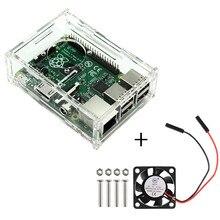 Для raspberry pi 3 model b прозрачный акриловый корпус с охлаждающим вентилятором с радиатором