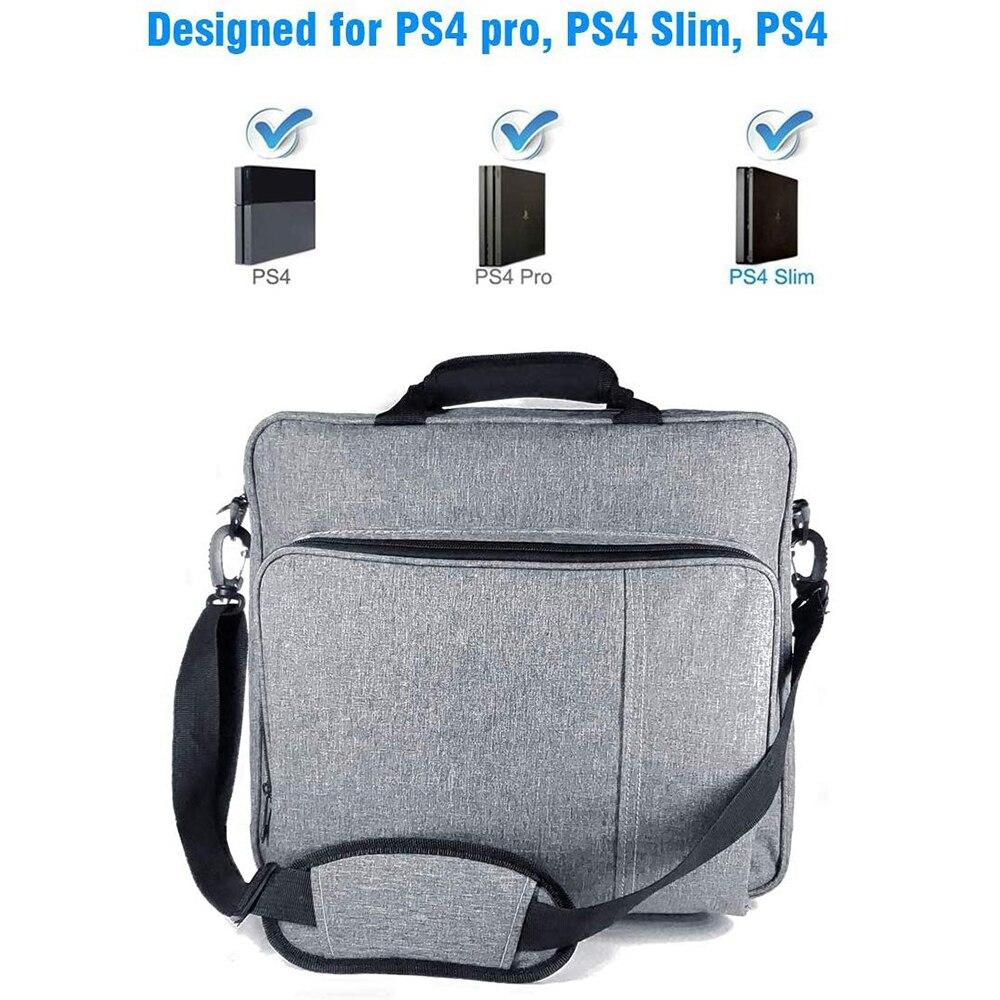 حقيبة يد جديدة للبلاي ستيشن 4 كونسول متعددة الوظائف لجهاز بلايستيشن 4/PS4 برو سليم الحجم الأصلي لحماية الكتف حمل حقيبة قماش