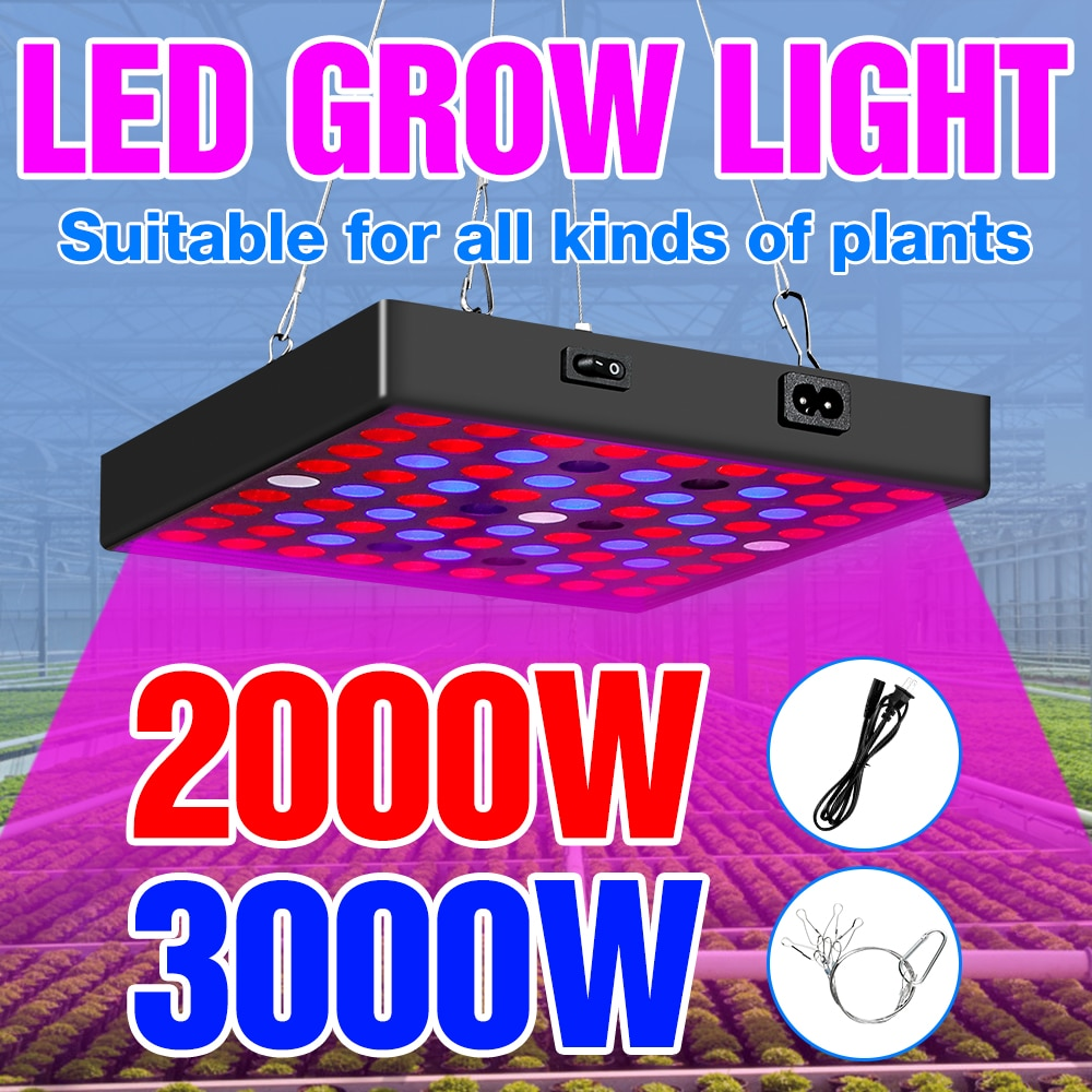 new 2 heads led grow light dual head 18w plant grow lamp led fitolampy with double on off switch for hydroponics grow system LED Hydroponics Full Spectrum Phyto Grow Light 100V LED Plant Lamp 2000W 3000W LED Bulb Home Tent Grow Box Seeds Veg Fitolampy