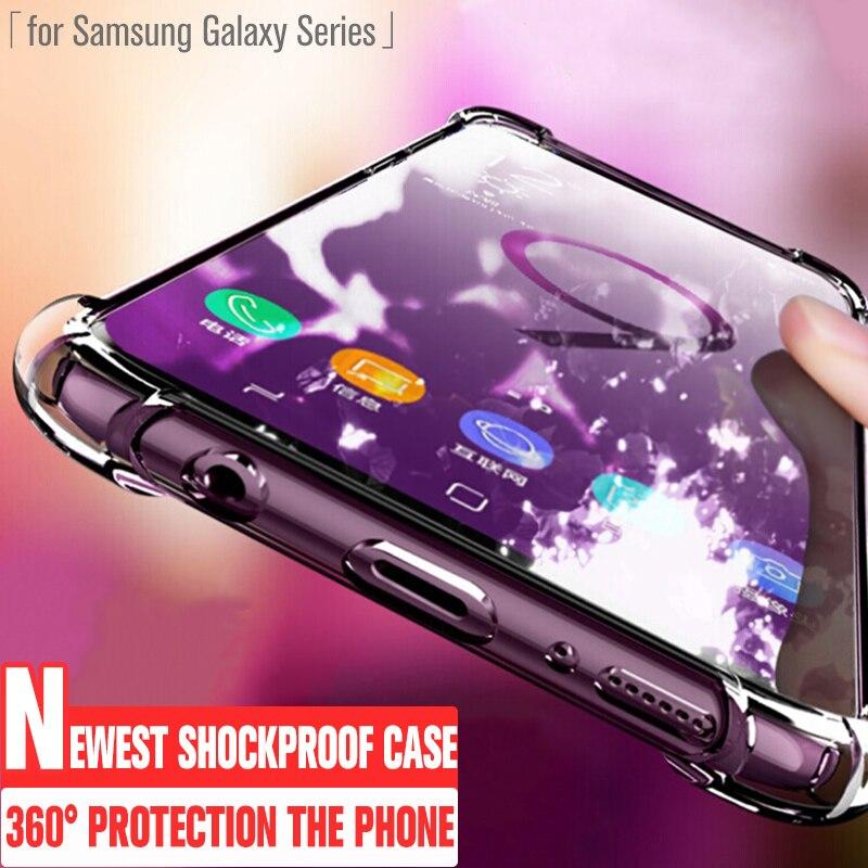Caso à prova de choque para samsung galaxy s20 plus ultra s10 s10e s9 s8 mais a51 a71 nota 10 9 8 airbag design silicone telefone capa
