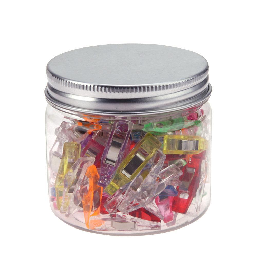 Nueva llegada 50 Uds Multi Color 27x10x15mm Clips de plástico para Patchwork costura DIY manualidades edredón acolchado Clip trébol Clip de maravilla