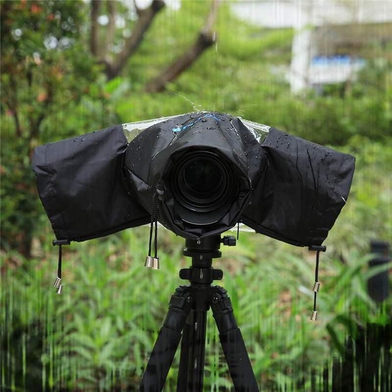 Pro Cámara lluvia cubierta bolsa protectora impermeable contra el polvo impermeable para Canon Nikon Pendax DSLR SLR Cámara