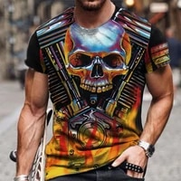 new zombie pattern mens t shirt 3d printed summer breathable top oversized casual personality skull t shirt for men