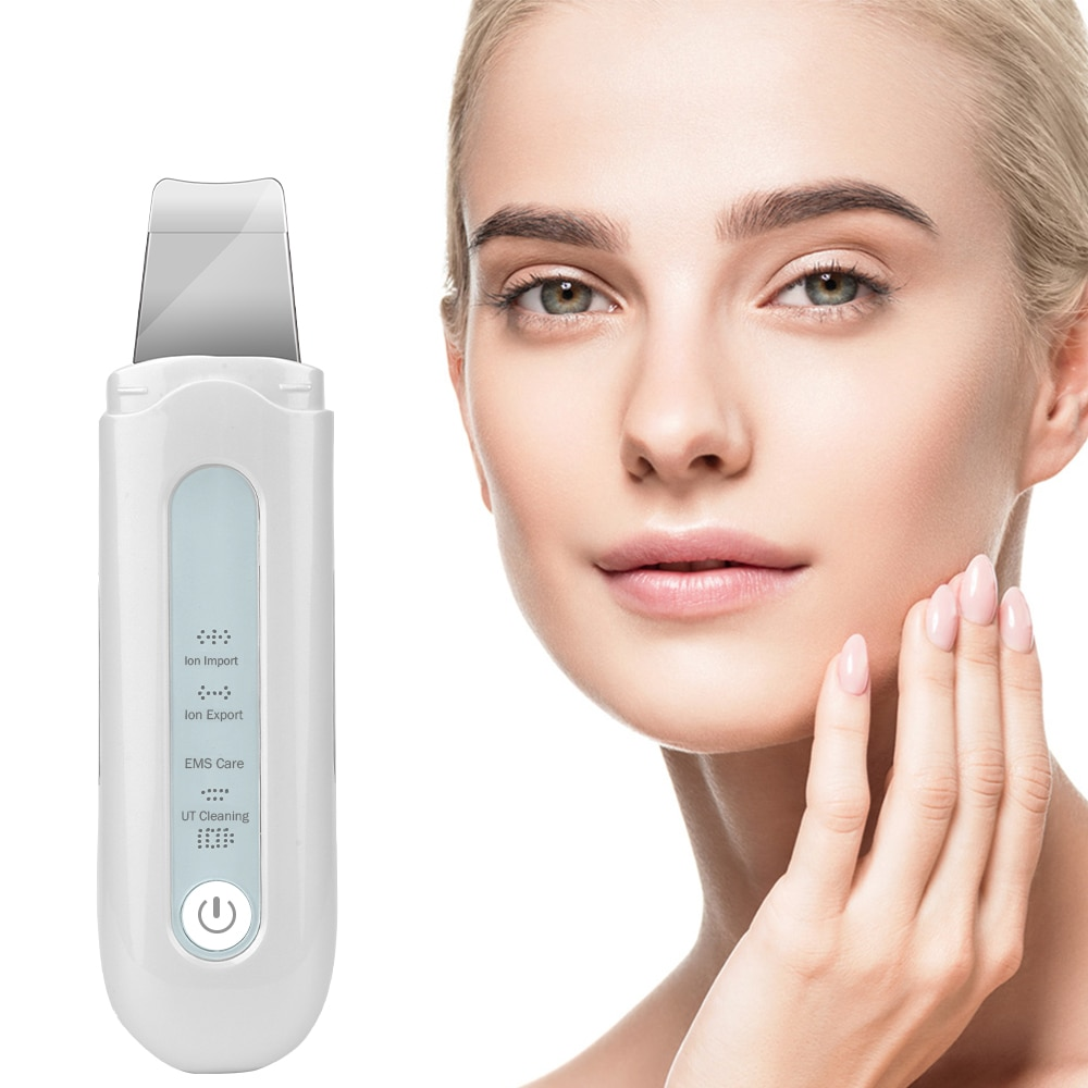 Ultrasonic Deep Face Cleaning Skin Scrubber Ion Vibration Acne Blackhead Removal Exfoliating Peeling