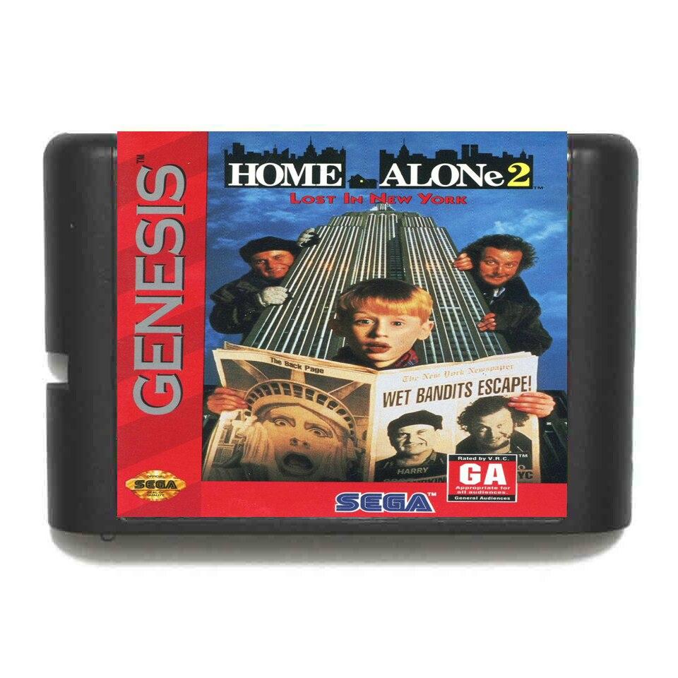 Tarjeta de juego MD de 16 bits para Sega Mega Drive de NTSC-USA, Nueva York, 2 unidades