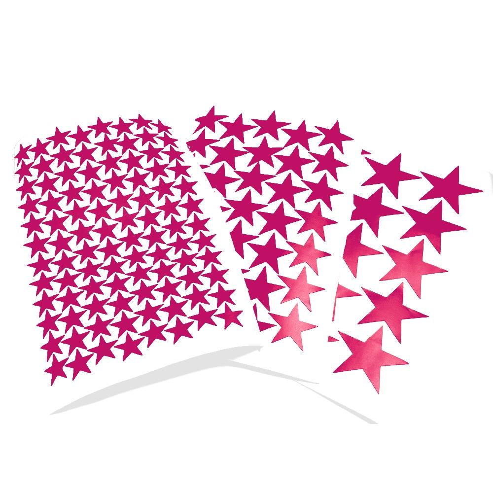 Adesivos de parede de estrelas coloridas de 3/5/7cm, adesivos matte para parede de vinil, rosa, cores vermelhas, pvc, parede de quarto de crianças decoração de casa diy decalque de estrela arte de parede papelaria