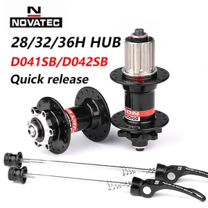 Novatec D041SB D042SB Hub Road MTB Bicycle Disc Card Brake Hub 28/32/36 Holes Red Black 8/9/10/11 speed Mountain bearing Hubs