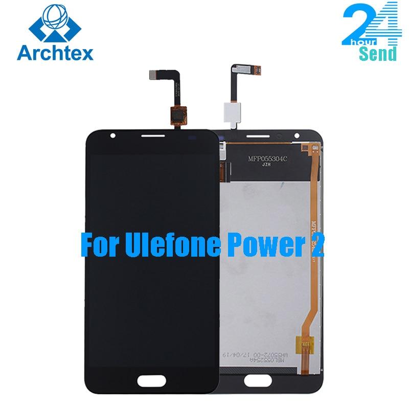 شاشة LCD أصلية 100% بوصة Ulefone Power 2 ، حامل محول رقمي لشاشة تعمل باللمس TP ، أدوات ، نظام Android 5.5 1920x1080P ، 7.0