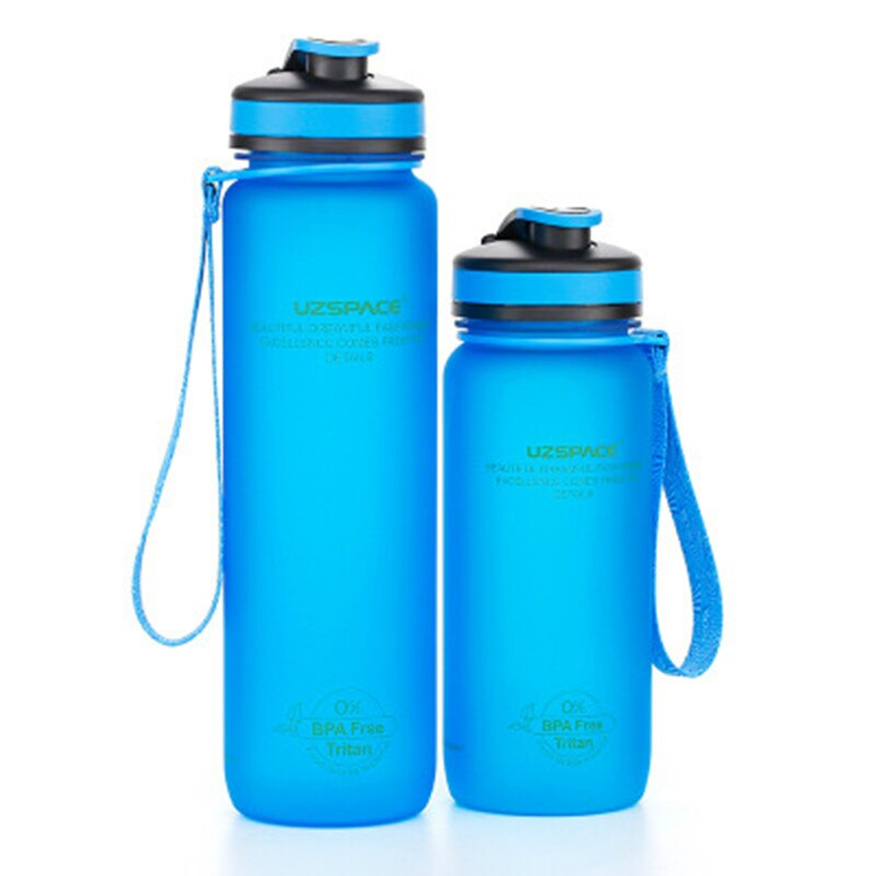 350/500/600ml 1l Sport Water Bottles Outdoor Travel Portable Leakproof Tritan Plastic Drink Bottle K