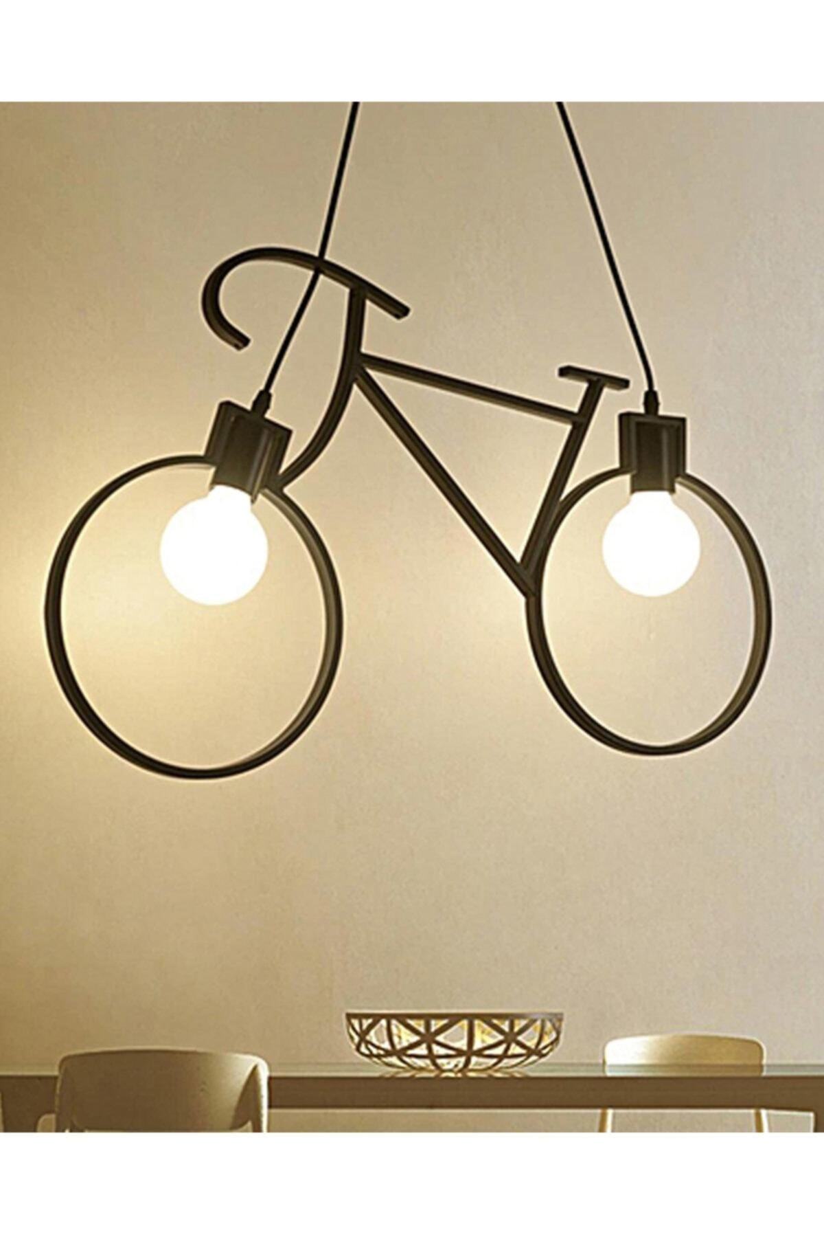 Bicycle Pendant Lamp Chandelier Metal Wrought Iron Retro Rustic