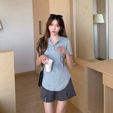 Summer All-Matching Slim Fit Slim Design Funny T Shirts Harajuku Vintage Top Korean Cloth Friends Ka