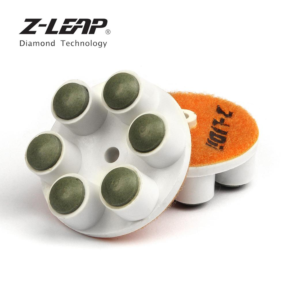 """Z-LEAP 1 pc 2 """"diamante polimento almofada esférica pontos de trabalho moagem discos uso seco para piso concreto pedra lixar renovar"""
