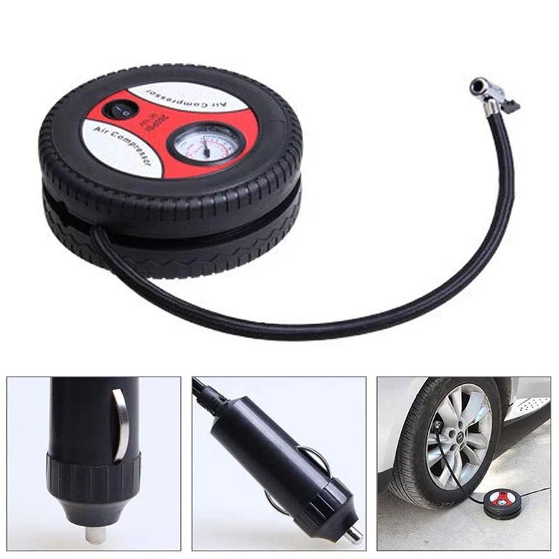 Автомобильный Портативный шин воздушный насос Электрический мини-насос для накачивания Шин Компрессор для катания на мотоцикле шины мяч у...