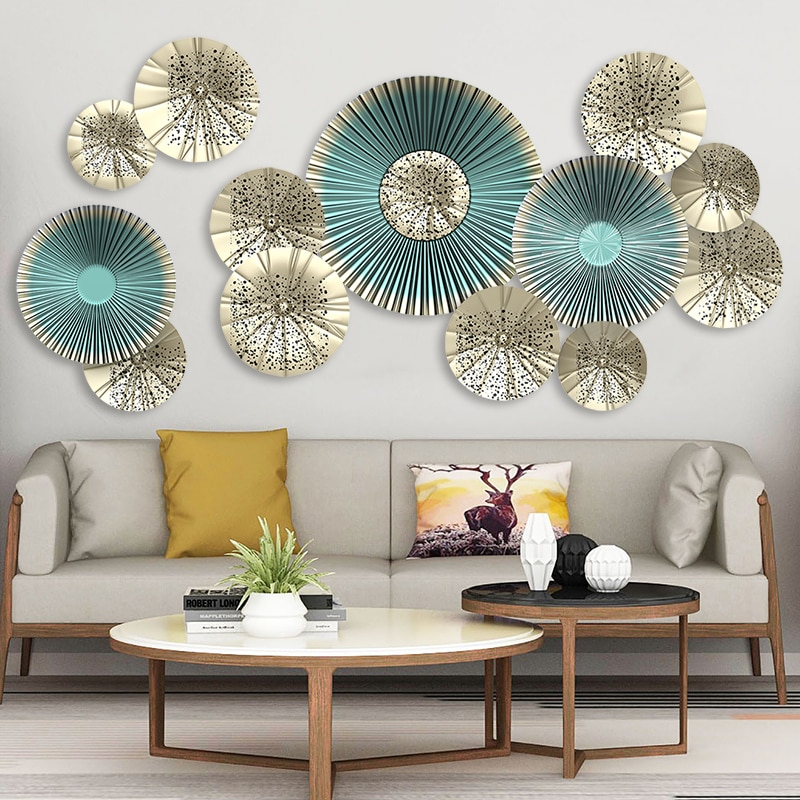 Creative 115*58cm 3D Fan Wall art Decals European Style Living Room Home Decor Vinyl Bedroom Decoration Posters Wallpaper 10pcs lot 5x5cm home furnishing embossed decoration european style wooden furniture decals