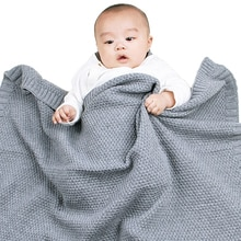 Pudcoco-couverture chaude pour bébé   Accessoire hiver, doux, câlin, coupe-vent, tricot décontracté, noir, emmaillotement, 100X80