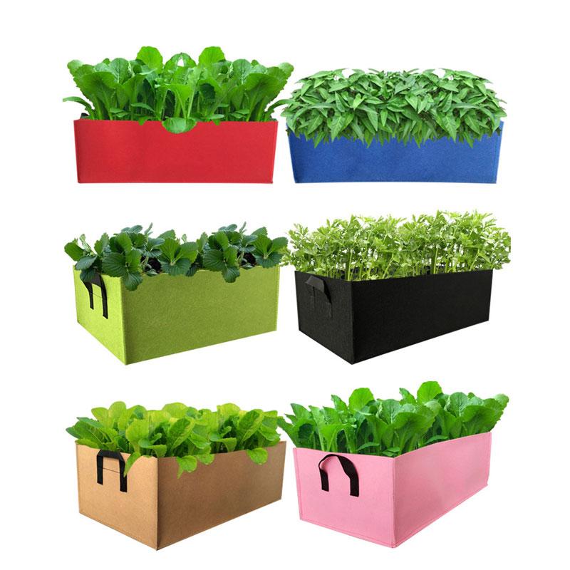 3 Kleuren Vierkante Handvat Tuin Planting Bag Zaailingen Teelt Bag Aardappel Groeiende Zak Non-woven Groente Planten Pocket