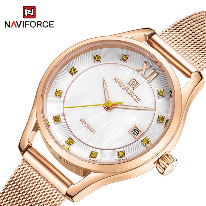 أفضل ساعة نسائية فاخرة موضة السيدات الساعات تاريخ مقاوم للماء ساعة اليد الكوارتز الإناث Relogio Feminino