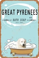 great pyrenees bath soap old design tin signs vintage metal tin signs for wall art decor for home bars 20 x 30