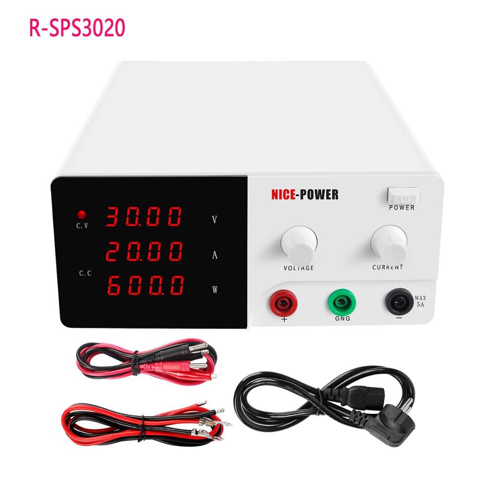 R-SPS3020 البسيطة قابل للتعديل DC امدادات الطاقة 30V20A 4 أرقام عرض التبديل منظم مختبر امدادات الطاقة للهاتف المحمول إصلاح