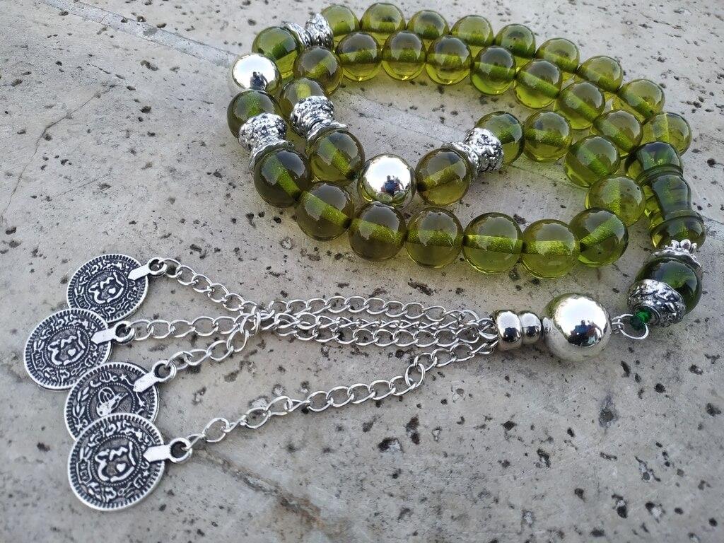 Ottoman Faturan German Amber Sandalous Misbaha Prayer Beads Islamic Gift Tasbih Tasbeeh Tasbeh Rosary Tasbih # 43A