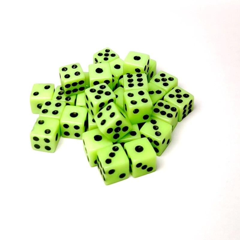 20 шт. 8 мм Мини Акриловые полимерные кубики пластиковые светильник-Зеленые Черные кубики Pip стандартные шестисторонние кубики для фотографи...