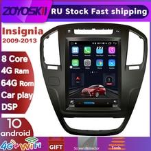 Zoyoskii Android 10 Os 10.4 Inch Auto Gps Multimedia Radio Bluetooth Navigatie Speler Voor Opel Insignia 2009-2013 Carplay