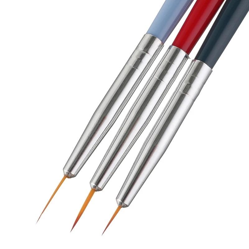 3 шт нейлон Краски ing кисти с деревянными ручками Краски кисти разных Размеры изогнутым наконечником ручка для акварели масляная Акрил…