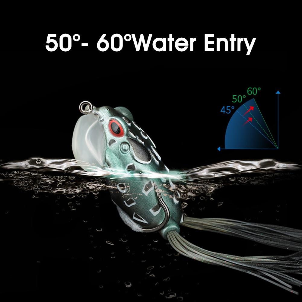 5/Pack Fishing Lure Set Soft Plastic Frog Lures Topwater Bionic Swaim Bait for Bass Salmon Freshwater Saltwater Fishing enlarge