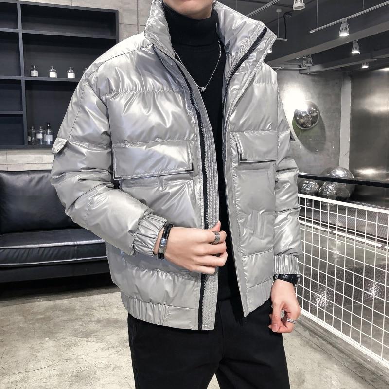 Новинка Зима 2020, Мужская зимняя теплая куртка, высококачественный пуховик, Мужская короткая одежда, короткая одежда, великолепная блестяща...