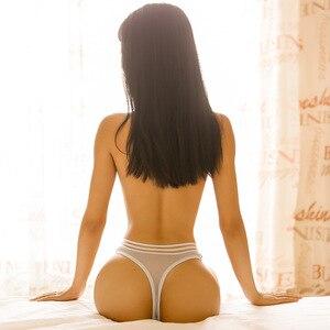 3pcs/set Seamless Ice Silkwomen Underwear Panties Brief Intimate Lingerie G-String Hollow Stripe Lady Briefs Thong Panties Woman