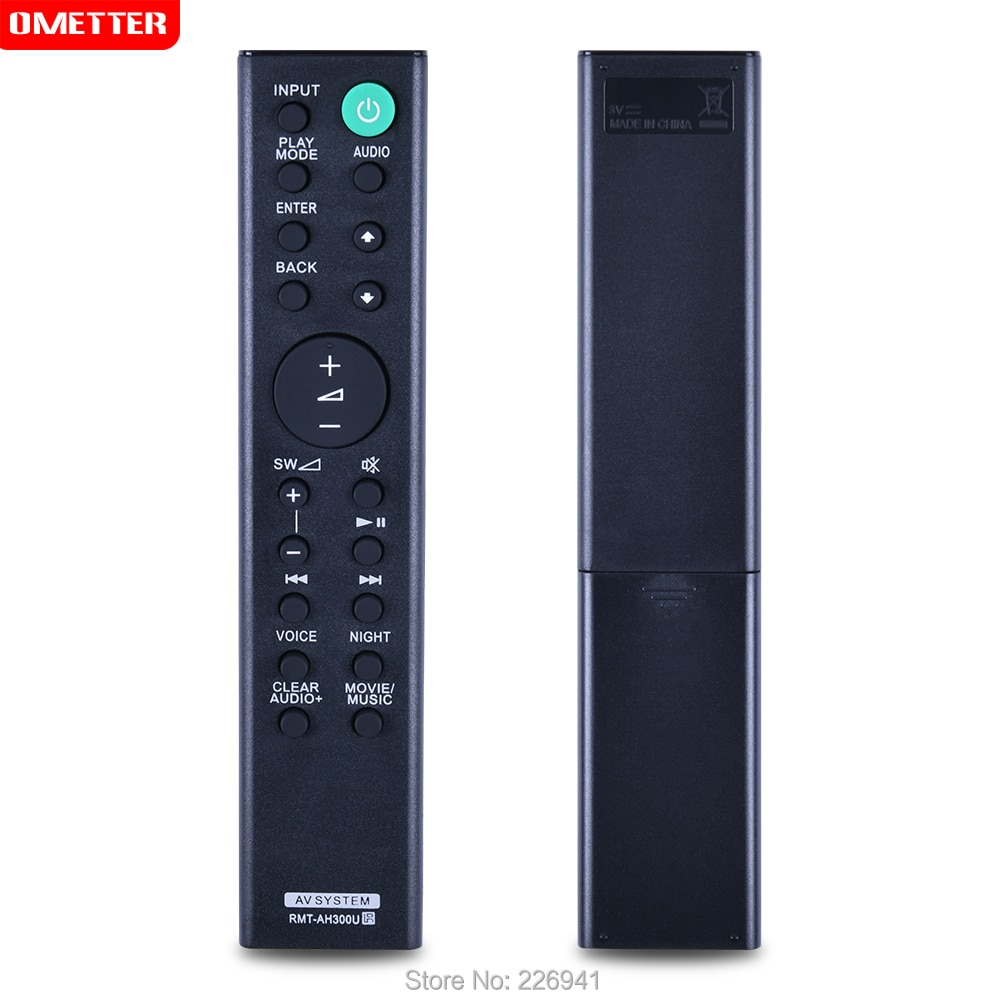RMT-AH300U uso de controle remoto para sony sound bar av sistema controle remoto remoto para HT-CT291 SA-CT290 SA-CT291 HT-CT290 htct290